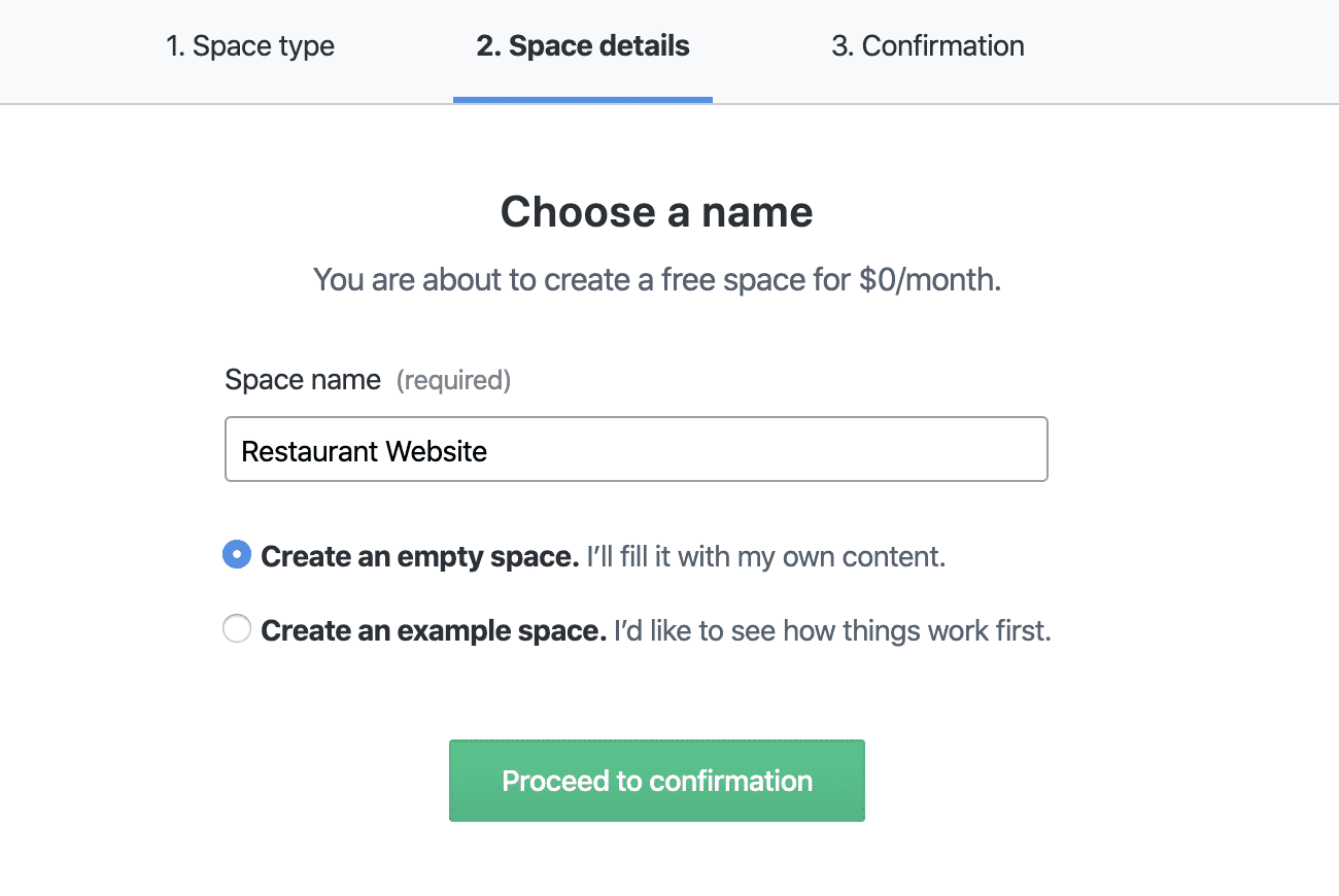 Contentful Space Details